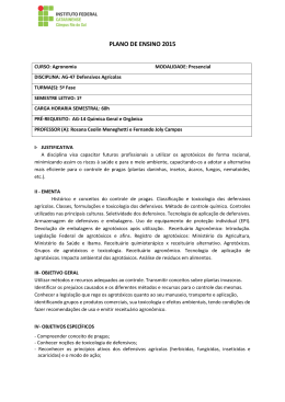 PPE – Defensivos Agrícolas