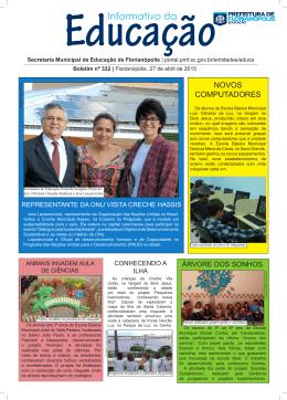 Informativo da - Prefeitura Municipal de Florianópolis
