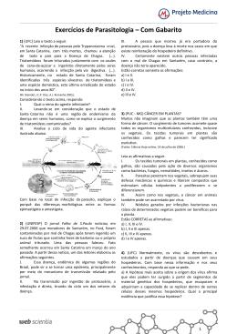 Exercícios de Parasitologia – Com Gabarito
