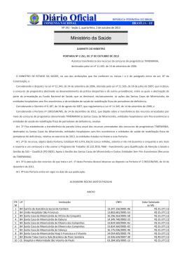 PORTARIA GM/MS nº2.261
