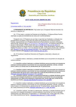 Lei nº 10.836, de 9 de janeiro de 2004