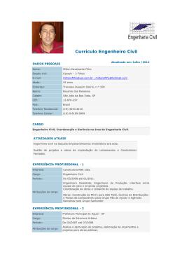 Currículo Engenheiro Civil - Constru@