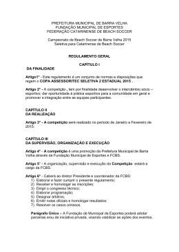 PREFEITURA MUNICIPAL DE BARRA VELHA