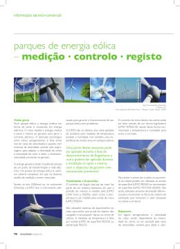 parques de energia eólica – medição . controlo . registo