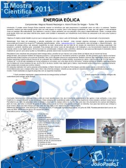 Mostra Científica 2011: Energia Eólica - JP Norte
