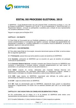EDITAL DO PROCESSO ELEITORAL 2015