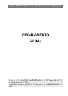 cne - regulamento geral - Junta Regional de Viana do Castelo