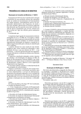 Resolução do Conselho de Ministros n.º 3/2013