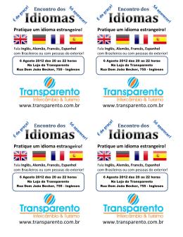 Encontro dos Pratique um idioma estrangeiro!