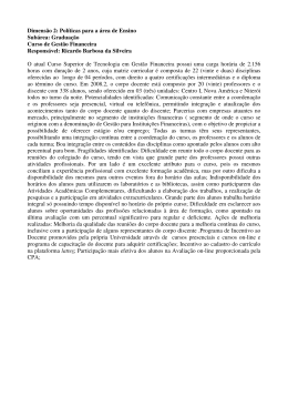 Dimensão 2: Políticas para a área de Ensino Subárea: Graduação