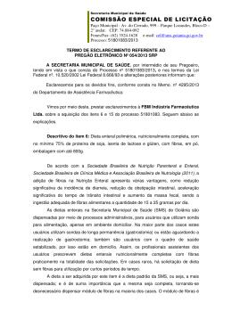 Termo de esclarecimento - Secretaria Municipal de Saúde