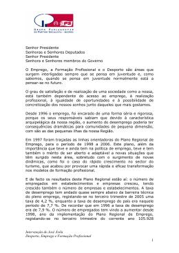 Intervenção de José Ávila Desporto, Emprego e Formação