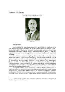 Geraldo Horácio de Paula Souza - Academia de Medicina de São