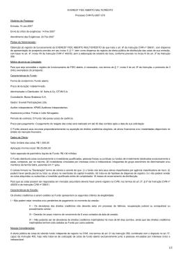 EVEREST FIDC ABERTO MULTICRÉDITO Processo CVM RJ