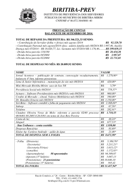 balancete mensal - Instituto de Previdência do Município de Biritiba