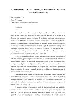 FLORESTAN FERNANDES E A CONSTRUO DE UM PADRO