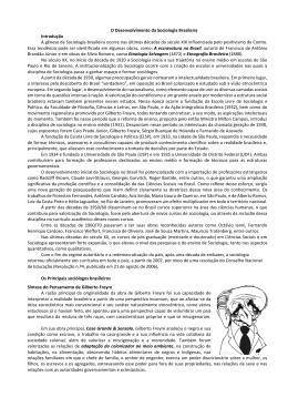 O Desenvolvimento da Sociologia Brasileira Introdução A