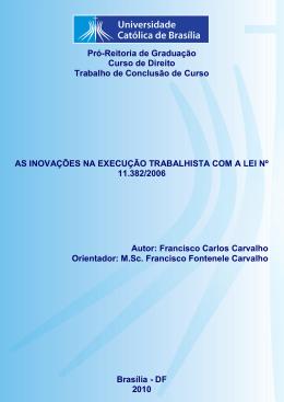 Francisco Carlos Carvalho - Universidade Católica de Brasília