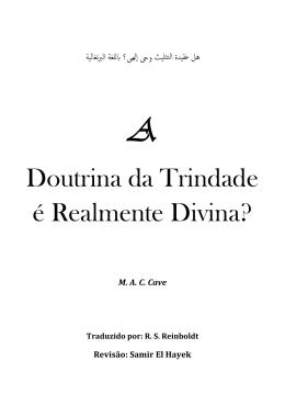 Doutrina da Trindade é Realmente Divina?