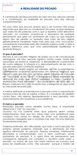 A REALIDADE DO PECADO