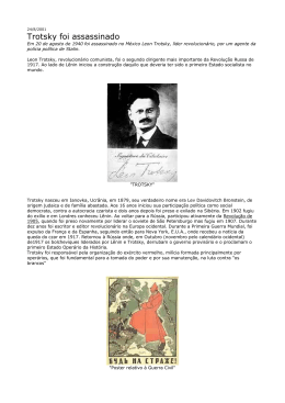 Trotsky foi assassinado