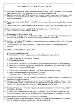 ORIENTAÇÃO DE ESTUDO P/ PT – 04/11 – 8º ANO 01. No contexto