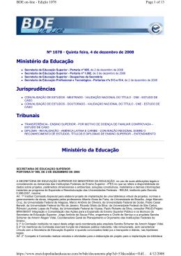 Ministério da Educação Jurisprudências Tribunais