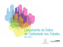 Lançamento do Índice de Criatividade das Cidades