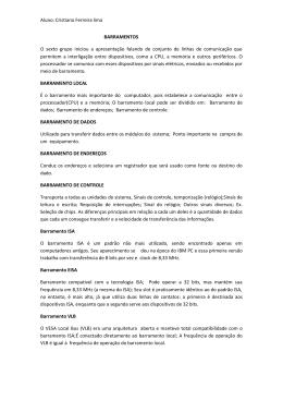 Aluno: Cristiano Ferreira lima BARRAMENTOS O sexto grupo