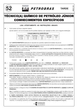 PROVA 52 - TÉCNICO QUÍMICO DE PETRÓLEO JÚNIOR.pmd
