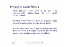 Projeções Geométricas