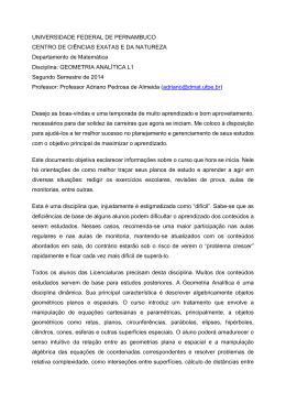 Plano de ensino - Universidade Federal de Pernambuco
