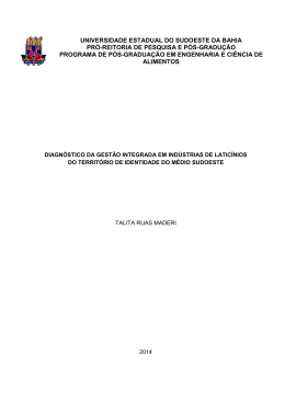 diagnóstico da gestão integrada em indústrias de laticínios