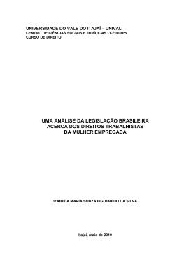 uma análise da legislação brasileira acerca dos direitos