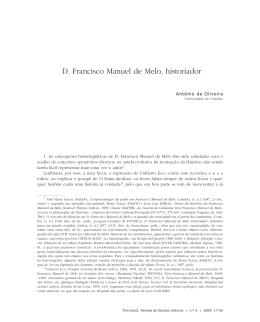 D. Francisco Manuel de Melo, historiador