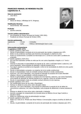 FRANCISCO MANUEL DE MENESES FALCÃO Legislaturas: X.