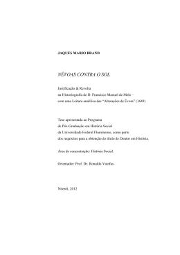 Texto da Tese em PDF disponível aqui - História