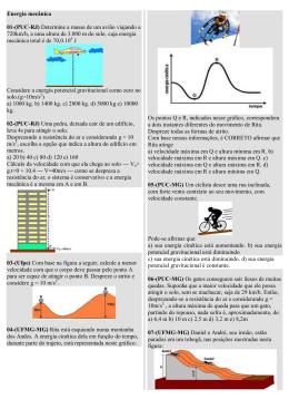 Energia mecânica 01-(PUC-RJ) Determine a massa de um avião