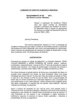 REQUERIMENTO Nº DE 2012