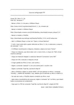 Guia de configuração FTP - PUC-Rio