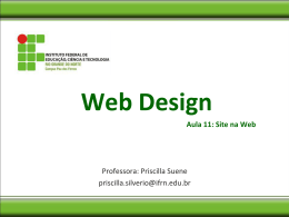 Web Design-Aula11 - Site_na_Web