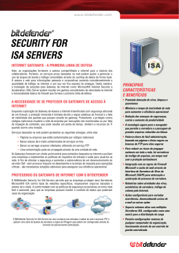 SECURITY FOR ISA SERVERS