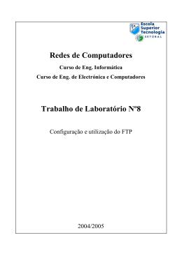 Redes de Computadores Trabalho de Laboratório Nº8