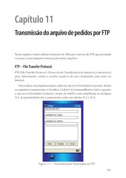 Capítulo 11 Transmissão do arquivo de pedidos por FTP