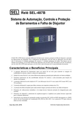 Relé SEL-487B Sistema de Automação, Controle e Proteção de