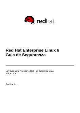 Red Hat Enterprise Linux 6 Guia de Segurança