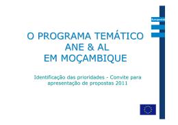 Convite para apresentação de propostas 2011