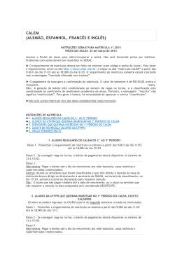 CALEM (ALEMÃO, ESPANHOL, FRANCÊS E INGLÊS)