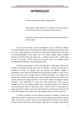 Abordagem da Cultura no Ensino do Espanhol dentro e