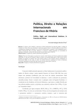 Política, Direito e Relações Internacionais em